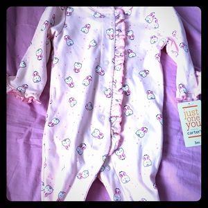 brand new baby girl footsie -3 month